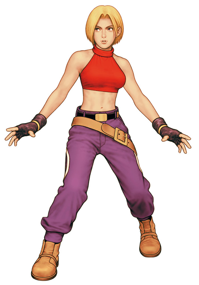 allfightinggameladies:  Blue Mary Ryan in The King of Fighters 2000.  Art by Shinkiro.