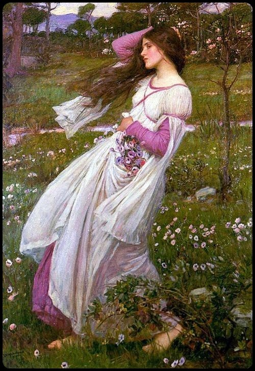 John William Waterhouse Windflowers - 1903