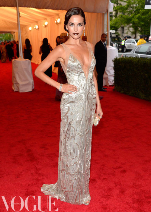 Camilla Belle wearing Ralph Lauren at the 'Schiaparelli And Prada: Impossible Conversations' Costume Institute Gala at the Metropolitan Museum of Art 2012 in New York.