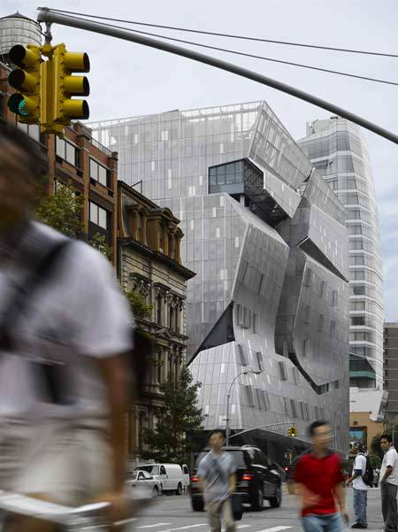 animal-vegetable-mineral:  Exterior 41 Cooper SquareMorphosis, Thom Mayne NYC