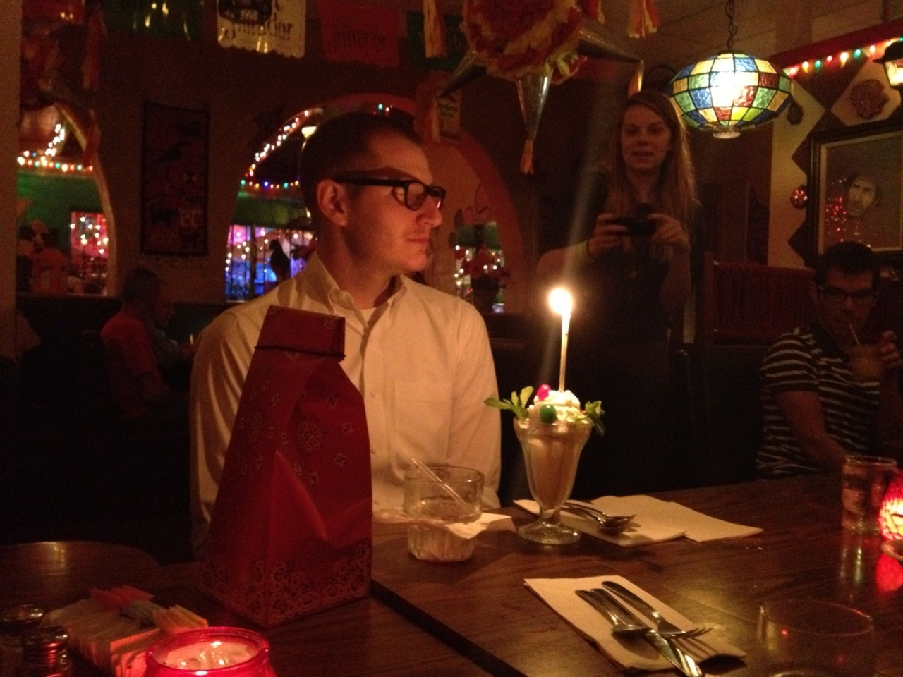 Happy birthday, Garrett! The first time I went to a birthday dinner for you, you were turning 19, and none of the things that made us such good friends had happened yet. The last time I went to a birthday dinner for you, you were turning 22 and preparing to leave New York for Los Angeles. Now you are 27, and I am living in LA, too, and so happy I can celebrate with you again. It has been such a pleasure to grow up and become a real person with you!