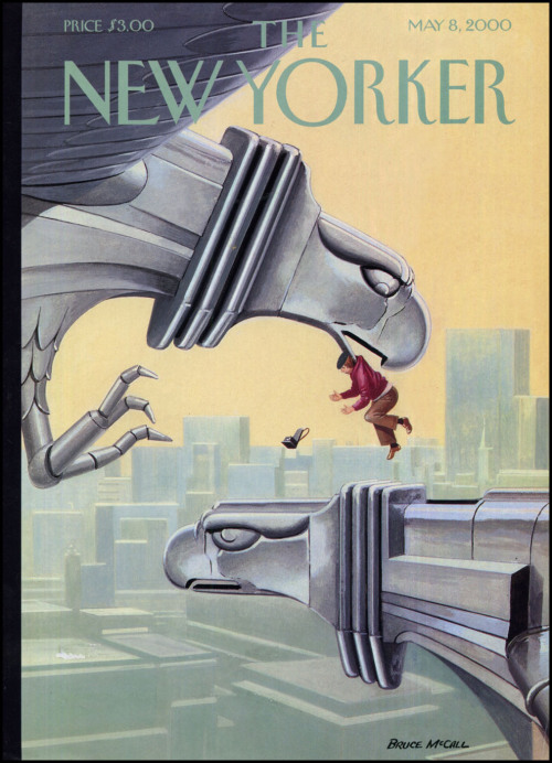 (via The Pictorial Arts: Pluck)   Bruce McCall — The New Yorker — May 8, 2000
