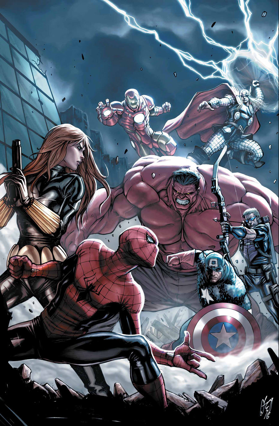 Artwork for cover of Amazing Spider-Man #687. June, 2012. Art by Stefano Caselli.