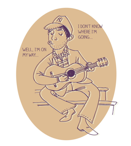 My word was 'New York', so I drew Paul Simon in a NY Yankees cap singing 'Me and Julio Down by the School Yard.' I will paint this in gouache soon!