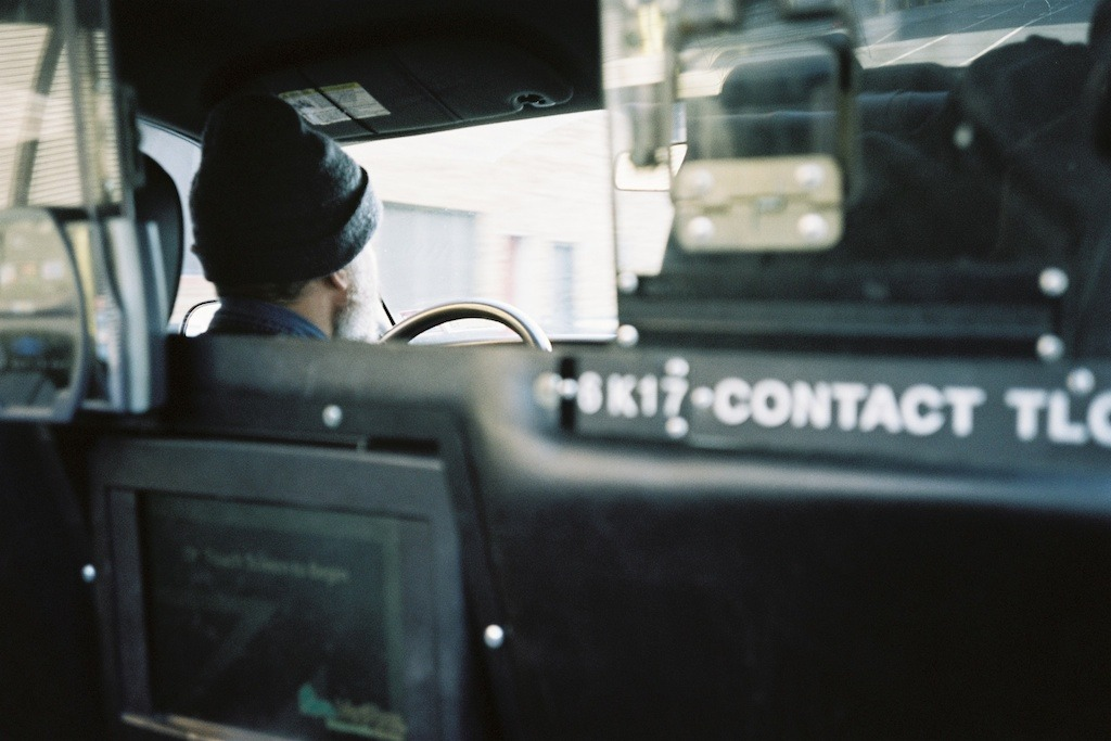 Taxi driver, 9th Avenue, New York, NY.