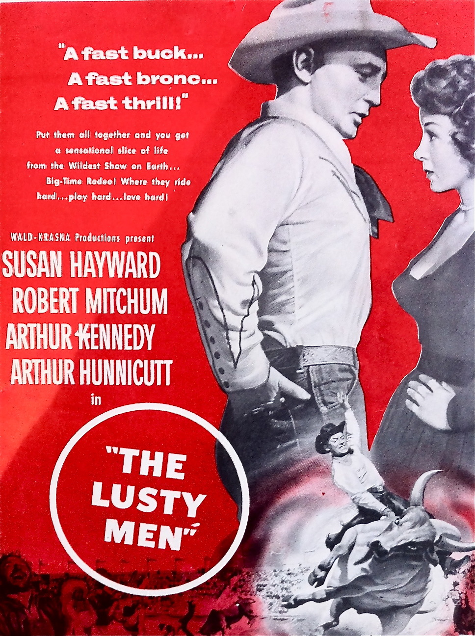 "hollyhocksandtulips:  ""The Lusty Men"", 1952 Starring Robert Mitchum and Susan Hayward"