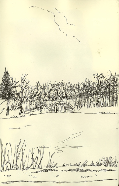 a sketch i did at the Lake of the Isles a few months ago, right when the lakes were starting to thaw