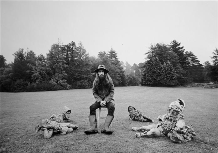 George Harrison at Friar Park - All Things Must Pass shoot by Barry Feinstein, 1970