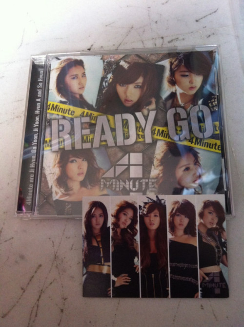 4Minute Ready Go + Group photocard - SGD13