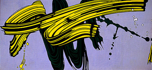 Roy Lichtenstein- Yellow and Green Brushstrokes (1966)
