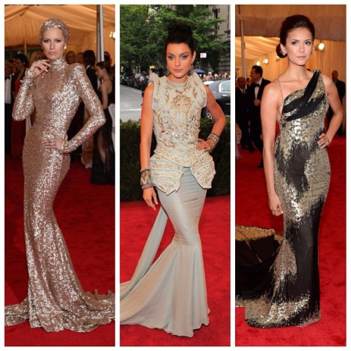 Met Gala 2012's shining shimmering splendid. With trains!! LOL! (Taken with instagram)