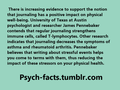 Source: http://psychcentral.com/lib/2006/the-health-benefits-of-journaling/ Blog's FaceBook Page Like for More Hidden Facts: https://www.facebook.com/Psychology2010