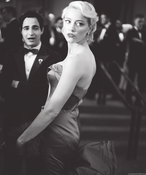 Amber Heard and Zac Posen at the Metropolitan Museum of Art's Costume Institute Gala (May 7, 2012)
