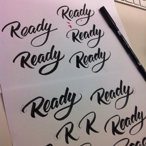 Preselection of the READY Logo #calligraphy  (Taken with instagram)