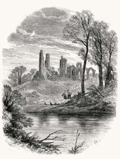 oldbookillustrations:  Clouden's silent towers. Myles Birket Foster, from Country life, collective work, London, New York, 1873. (Source: archive.org)