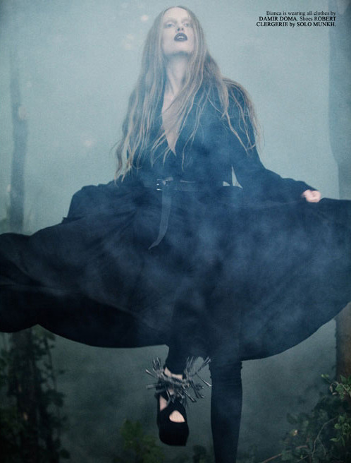 "DAMIR DOMA Womens Autumn Winter 2011-12 featured in ""The Beloved Witch"" for 160grams magazine (France)."