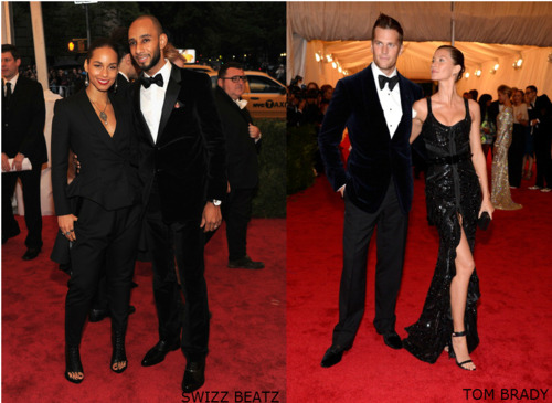 Swizz Beatz & Tom Brady at Met Gala 2012