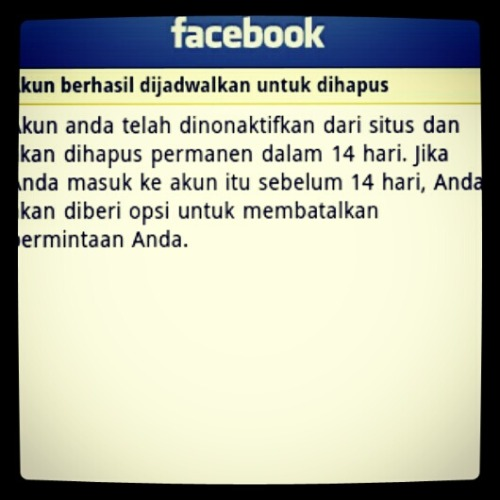 Goodbye Facebook~