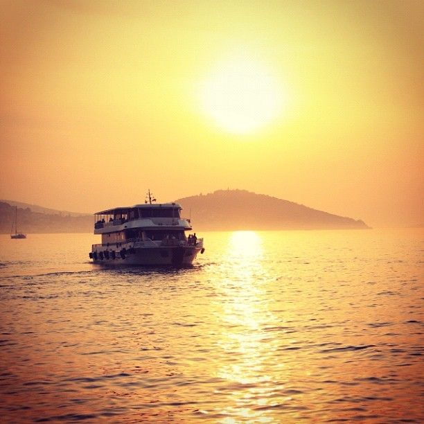 #Boat in #Sunset , #Istanbul , #Turkey  (Taken with instagram)