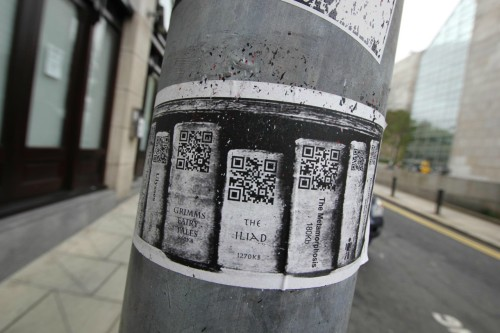 This is an amazing idea.  (The QR codes let you download the ebook!)