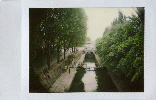 "Paris Canals on Flickr.""Polaroid"" of the canals in Paris. Taken with Diana F - Instant Back with Fish Eye lens. © Bree Sage http://seebreebefree.wordpress.com/"