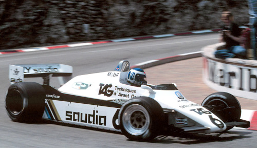 mp45b:  Keke going around a corner in the Williams FW08.  Keke in 1982, en route to the world title.