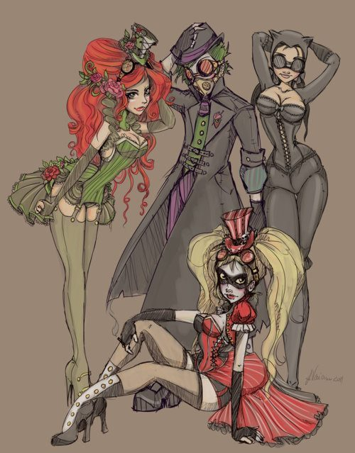I just really like this pic. I wouldn't mind dressing up like poison ivy or harlequin!
