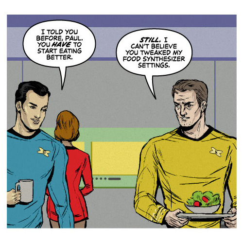 agreeablecomics:  In which Captain Meredith is on a new diet, which may include shoe leather.