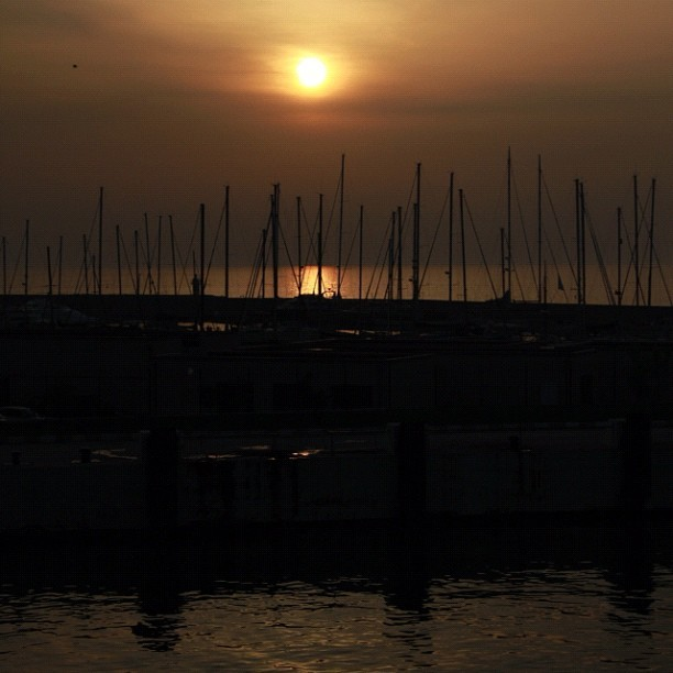 #Sunset on the #Yalova #Seaport , #Turkey  (Taken with instagram)