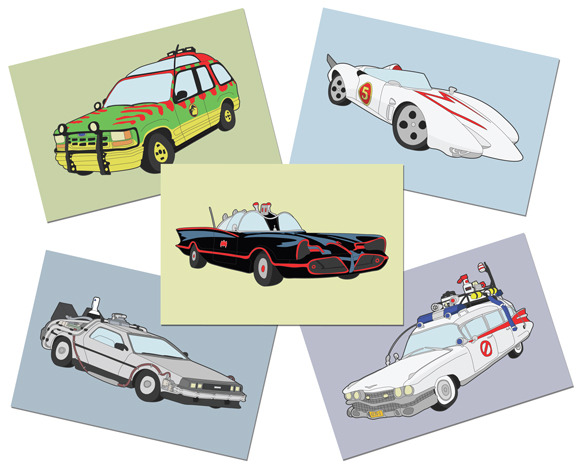 "My ""Hollywood Cars"" postcard set is now available in my shop.  Go check it out!  Click the image above!  www.andrew-heath.com/shop"