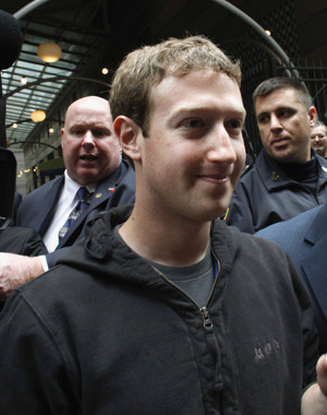 "shortformblog:  Apparently Mark Zuckerberg's hoodie is suddenly an issue for rich investors ahead of Facebook's IPO. ""Mark and his signature hoodie: He's actually showing investors he doesn't care that much; he's going to be him,"" said Michael Patcher of Wedbush Securities. Mr. Patcher, Mr. Patcher: Your suit makes you look like a jerk.  His Prada is at the cleaners!"