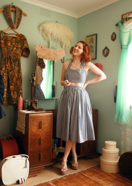 qsdaydream:  The lovely Esme and the Laneway in the Picnic Playsuit from Q's Daydream Handmade!