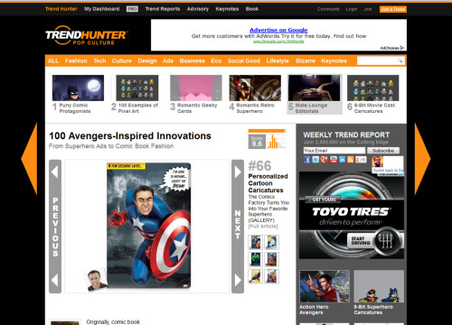 We made it on TrendHunter's Top 100 Avengers Inspired Innovations! Check out #66: http://bit.ly/Js4nww Start your Avengers transformation here: http://bit.ly/KaFRkO