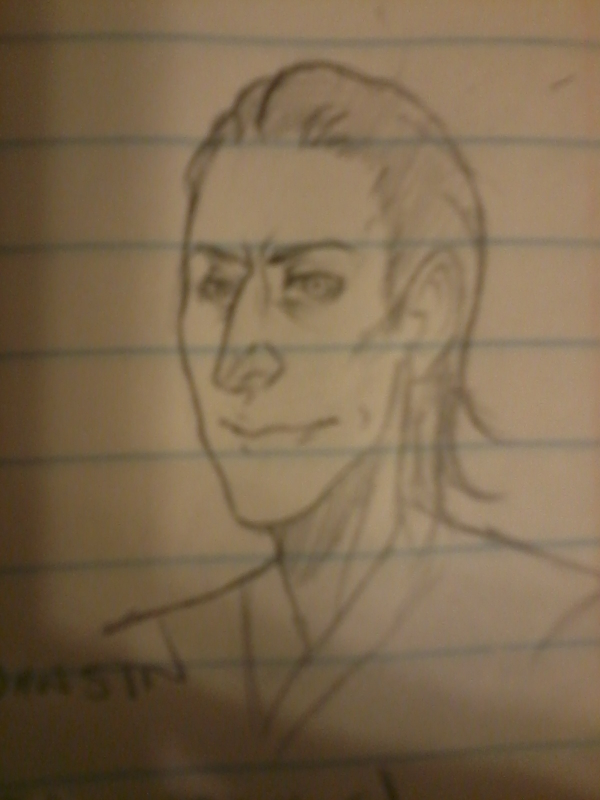 I tried to draw loki and I havent seen thor or avengers yet fuq da polis I do what I want sobbb