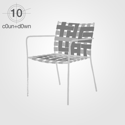 #c0untd0wn -10 for #milan2012 tagliatelle chair, design by jasper morrison for alias