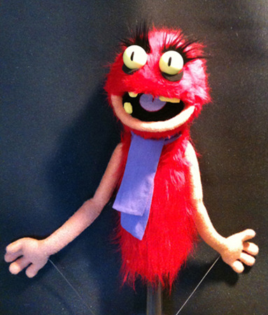Red Monster Puppet Commissioned for an Independent Film