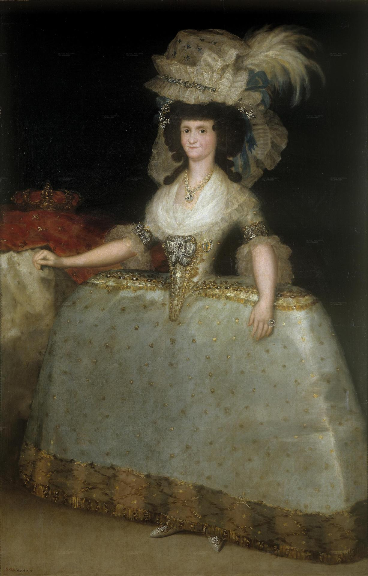 Francisco de Goya - Maria Luisa de Parma con tontillo, 1789. Oil on canvas