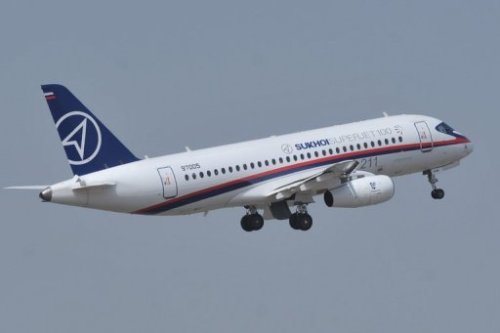 Currently unaccounted for: A newly-made Russian jet in Indonesia, reportedly with over 40 people on board. The jet was being flown over mountains as a demonstration for journalists and people who might be interested in buying the plane. The Russian Sukhoi Superjet 100 only made its first flight last year. (AFP file photo)