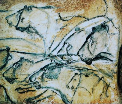 artweeks:  Lions, Chauvet cave