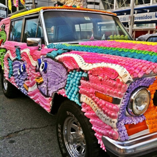 Today's color inspiration. papermag:  Also, here is the Peep-mobile.