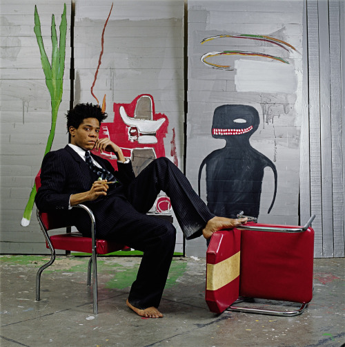 blackcurator:  Jean-Michel Basquiat  began as a graffiti artist in New York City in the late 1970s and evolved into a Neo-expressionist painter