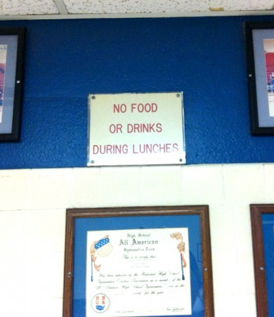 Lunch… you're doing it wrong. via Funny Signs