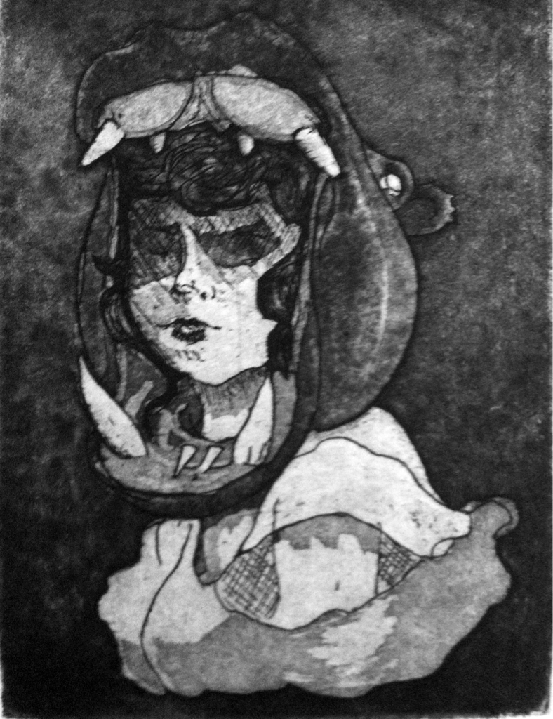Envy Aquatint  One of a set of fourteen