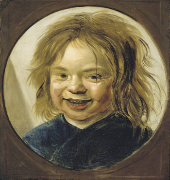 Unknown Artist, Laughing Child  Drunk baby is drunk.