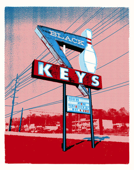 Cool poster for The Black Keys concert tonight at Rogers Arena: http://bit.ly/JdC8DK (via http://bit.ly/KaS1tW)