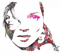 Montaje digital. Kate Moss.