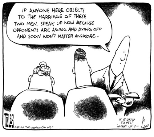 seanoise:  Tom Toles for the Washington Post  That's it. That's my final thought on the matter. Not even angry. Just tired of waiting. But don't confuse my fatigue for concession. It's over. We will prevail. Let the chicken with her head cut off run around a little longer- she's still going in the pot.