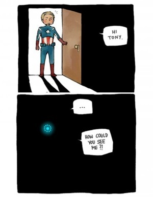 hornyhawkeye:  Tony Stark plays 'hide and seek'.