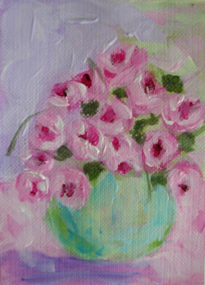 nestprettythings:  Acrylic Roses ACEO by Marilyn Kelley Art on Flickr.