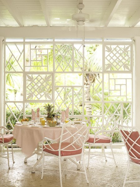 white decorated veranda